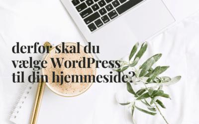 Derfor skal du vælge WordPress til din hjemmeside